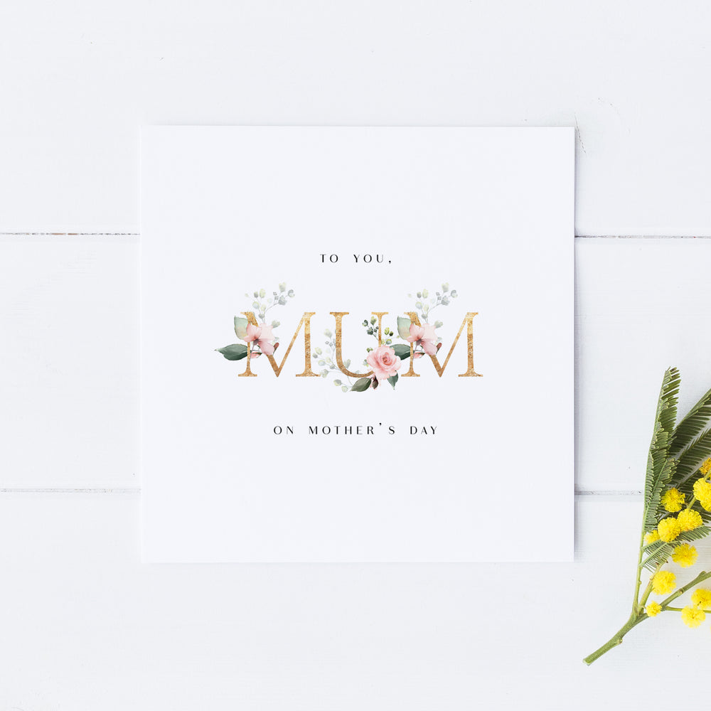 Beautiful Mother's Day Card, Mother's Day Card, Card for Mum, For my Mum on Mother's Day, Special Mother's Day Card, Mothering Sunday