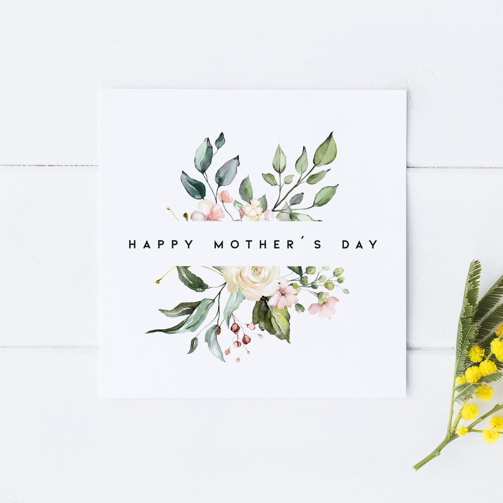 Floral Mother's Day Card, Mother's Day Card, Card for Mum, For my Mum on Mother's Day, Special Mother's Day Card, Mothering Sunday