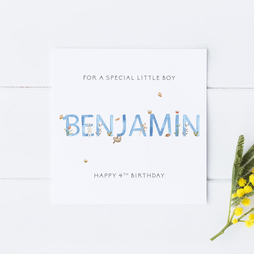 Personalised Children's Birthday Card For a Boy