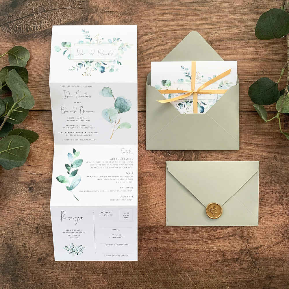 Northwood - Concertina Wedding Invitation