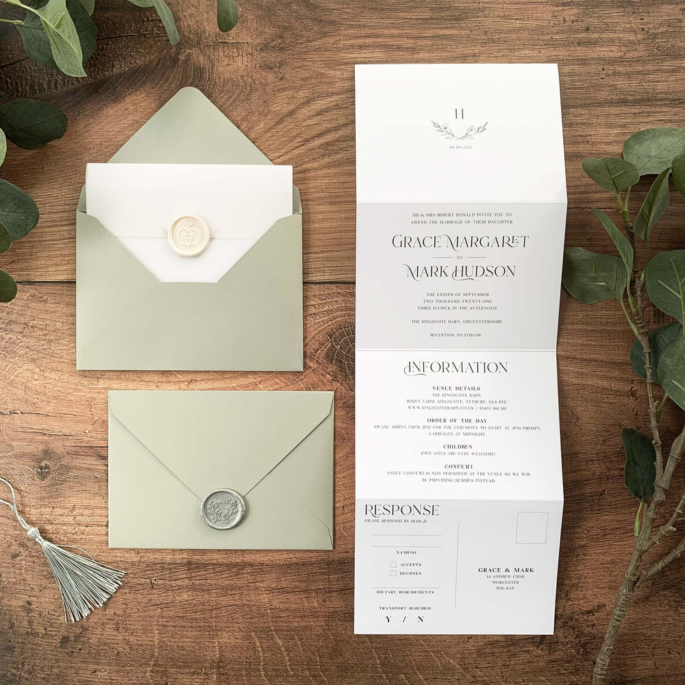 Paddington - Concertina Wedding Invitation