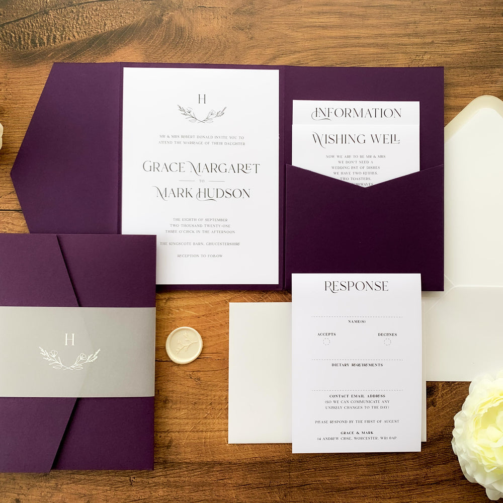 Paddington - Pocketfold Wedding Invitation