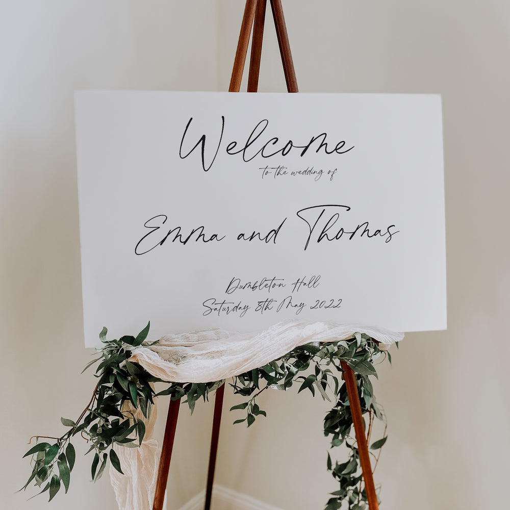 Modern Script Wedding Welcome Sign - Portobello Collection, Elle Bee Design