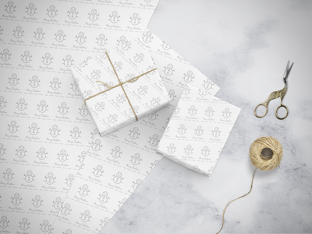 Luxury Christmas Gift Wrap Set - Snowman