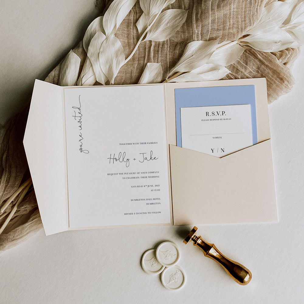 Victoria - Pocketfold Wedding Invitation