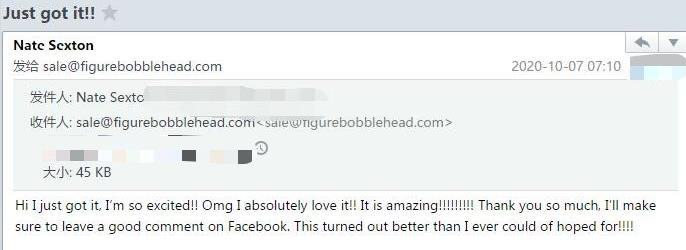 Customer-review-for Figure Bobblehead