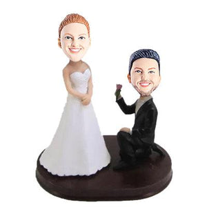 Classic Proposal Wedding Anniversary Custom Figure Bobblehead