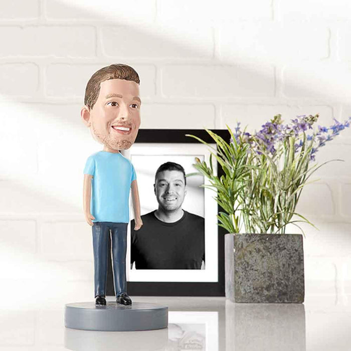 Customized Portrait Bobblehead For Person You Miss