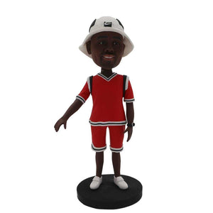 Fashionable Man with Hat Custom Figure Bobblehead