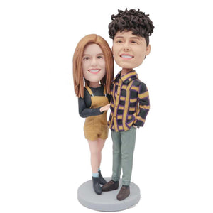 Fashionably Dressed Couple Custom Figure Bobblehead