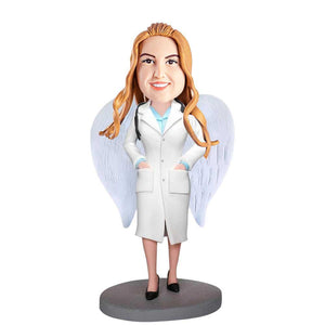 Female Doctor Angel with Wings Custom Figure Bobblehead