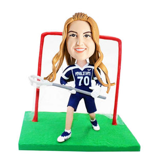 Female Lacrosse Player Custom Bobblehead