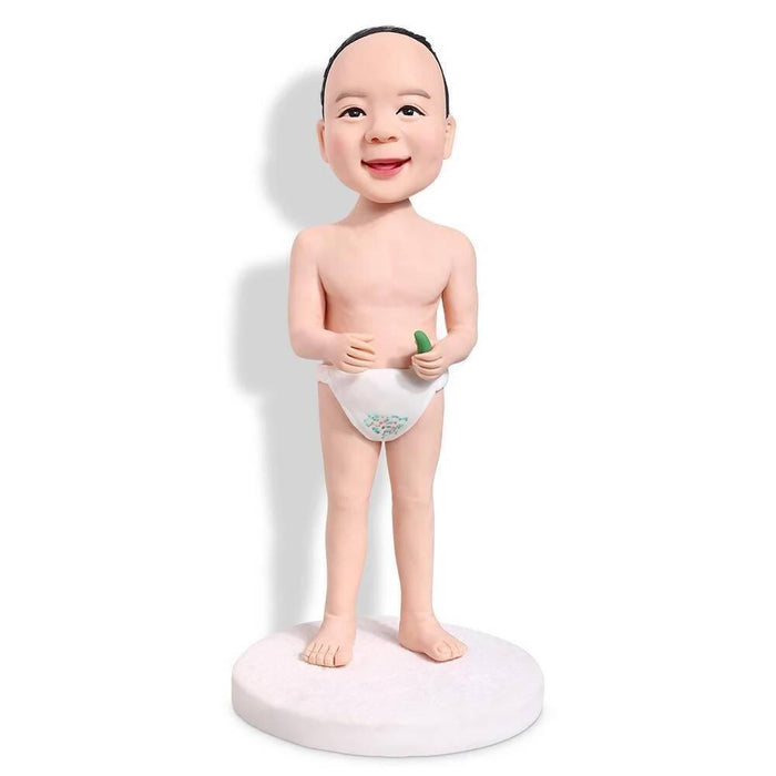 Funny Diaper Boy Custom Figure Bobblehead