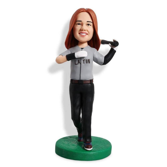 Gray Suit Baseball Custom Figure Bobblehead