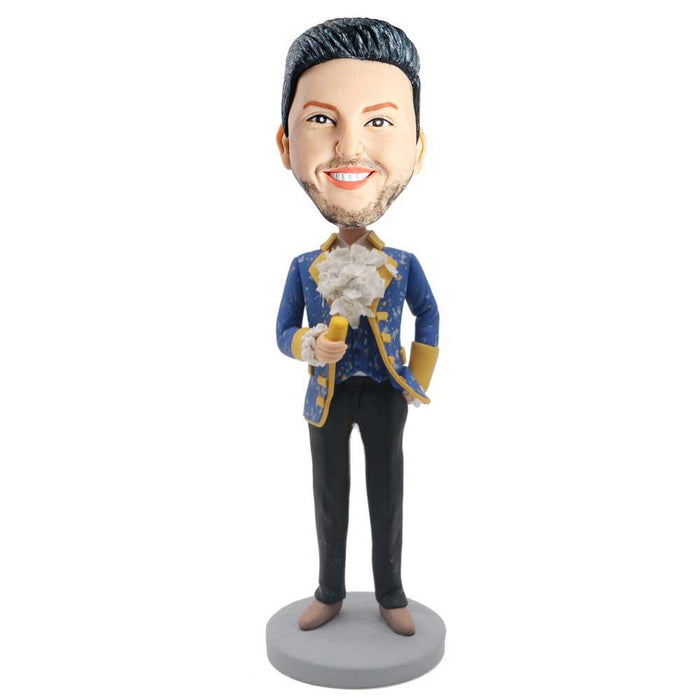 Handsome Male Dress Up For A Party Custom Figure Bobblehead