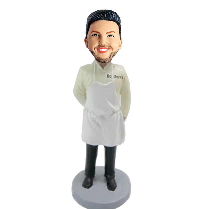Handsome Man In Apron Thanks Giving Custom Figure Bobblehead