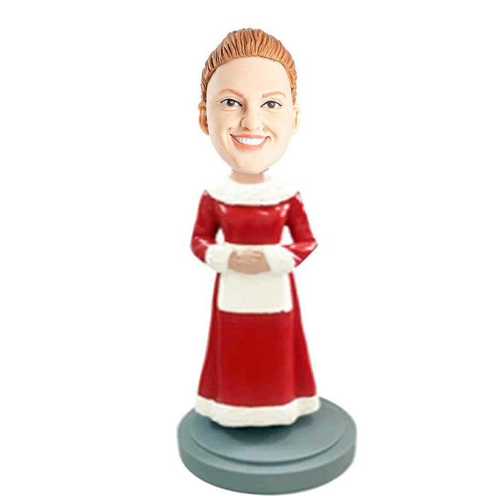 Housewife In Christmas Clothes Custom Bobblehead