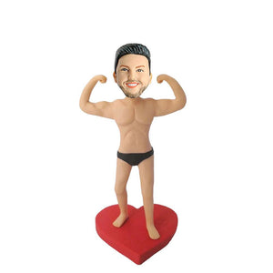 I am Strong Muscle Male Custom Figure Bobblehead
