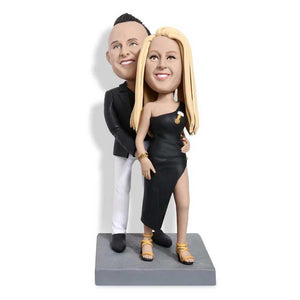 Intimate Evening Gown Couple Custom Figure Bobblehead