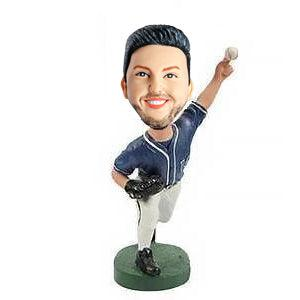 Male Baseball Pitcher Pitching Custom Figure Bobblehead