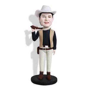 Male Cool Cowboy Hunting Custom Bobblehead