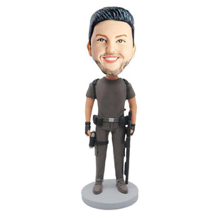 Male Sheriff Military Army Policeman In Combat Clothing Custom Figure Bobblehead