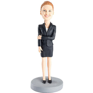 Office Lady with Suit Custom Figure Bobblehead