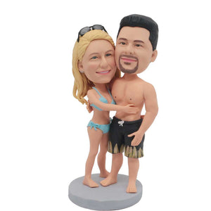 Sexy Couple In Swimsuits Custom Couple Bobblehead