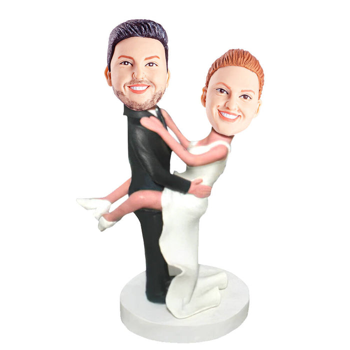 Sweet Bear Hug Couple Custom Figure Bobblehead