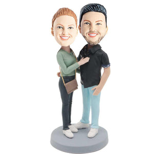 Sweet Fashion Couple Custom Bobblehead