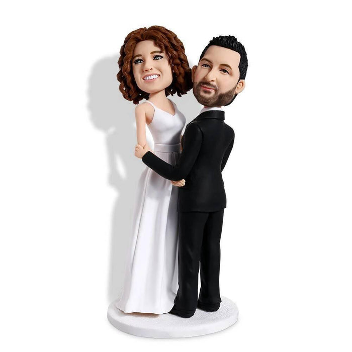 Sweet Hug Wedding Anniversary Custom Figure Bobblehead