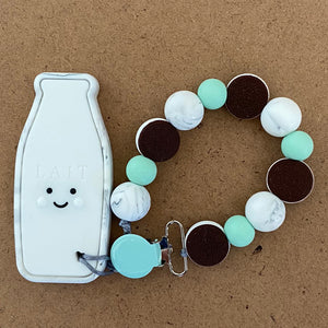 Milk and Cookies Paci Clip
