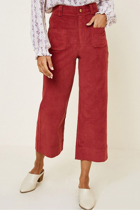 Jane Corduroy Wide Leg Pants