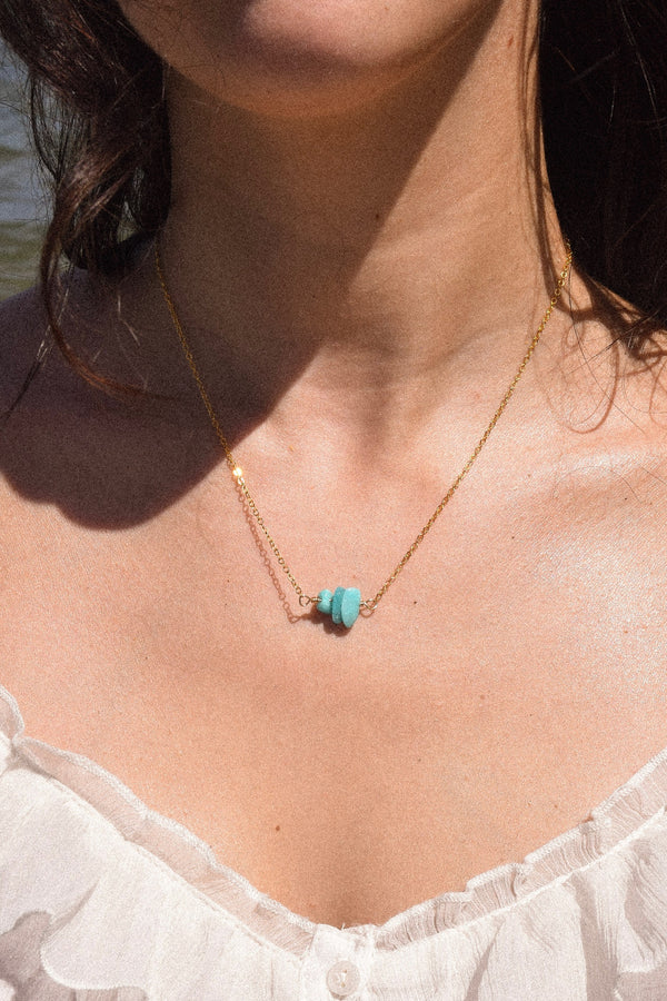 Amazonite Healing Stone Necklace | 14k Gold Filled