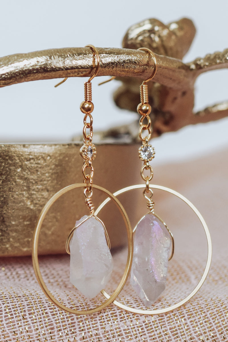 Lilac Celestial Earrings