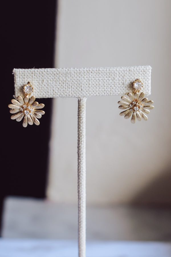 Daisy Crystal Earrings