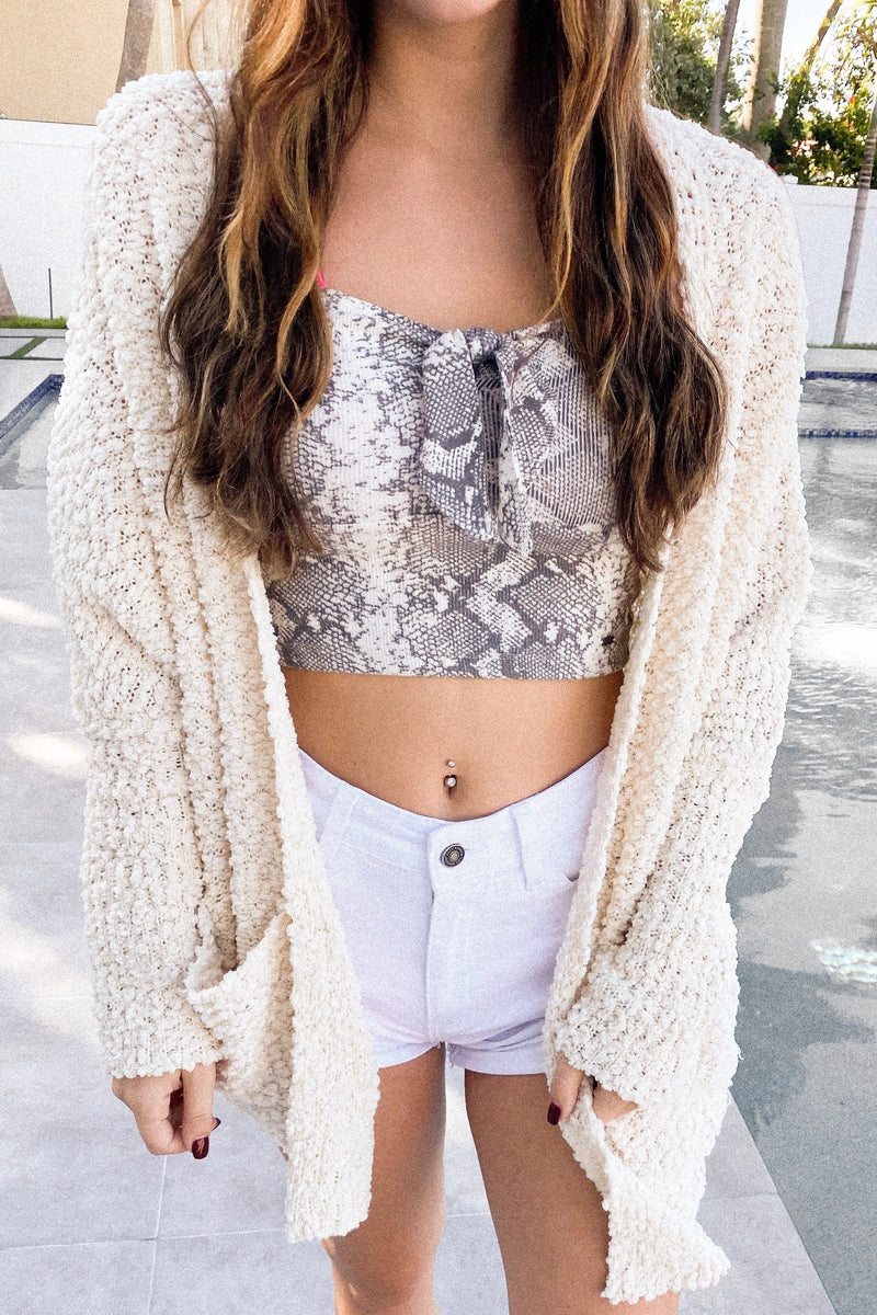 Beige Cozy Teddy Cardigan