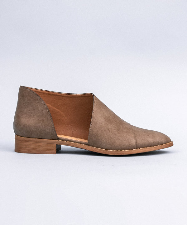 Brown Side Cut Everyday Flats