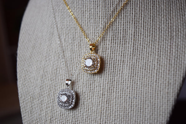 piper necklace | Cubic Zirconia | 14k Gold Filled | Sterling Silver