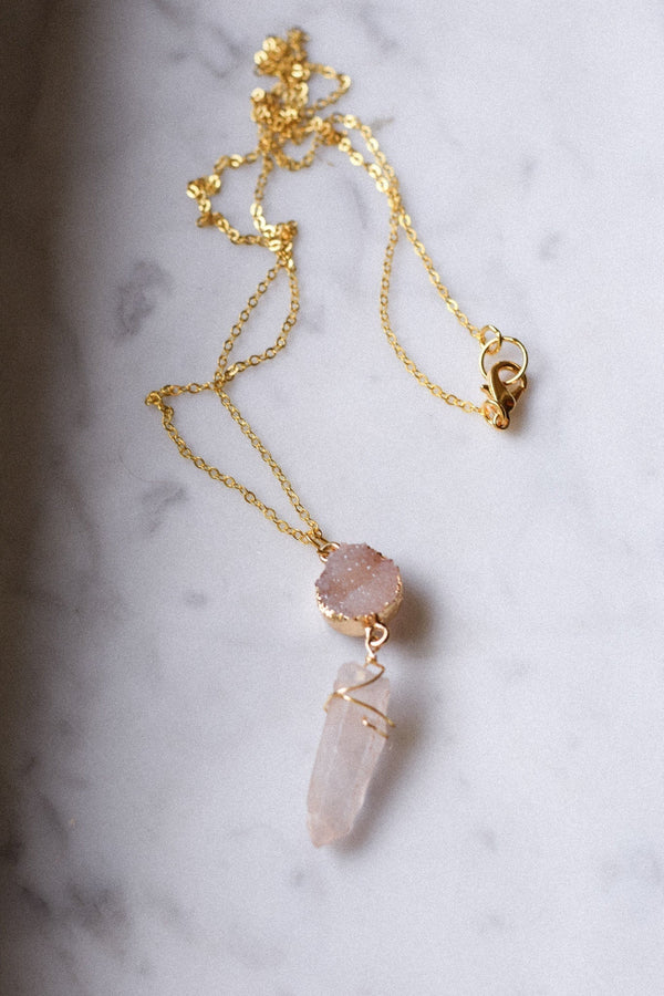 Druzy Crystal Necklace