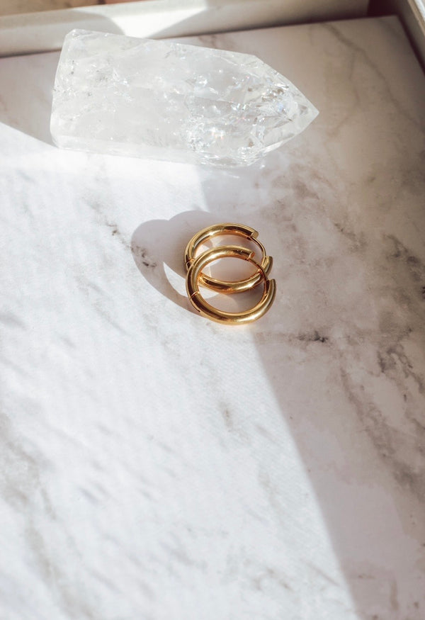Santorini Gold Hoops
