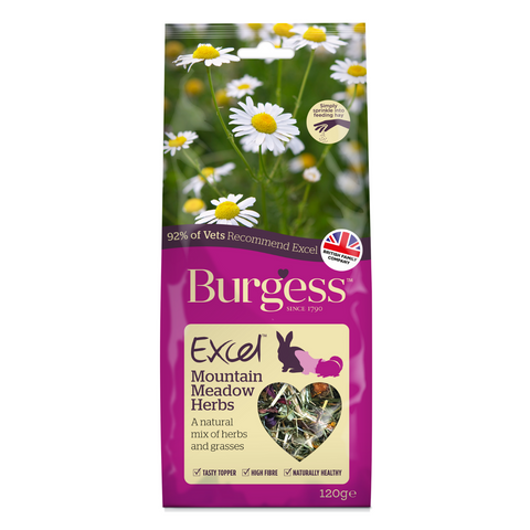 Burgess Excel Snacks (Mountain Meadow) Herbs - 120g
