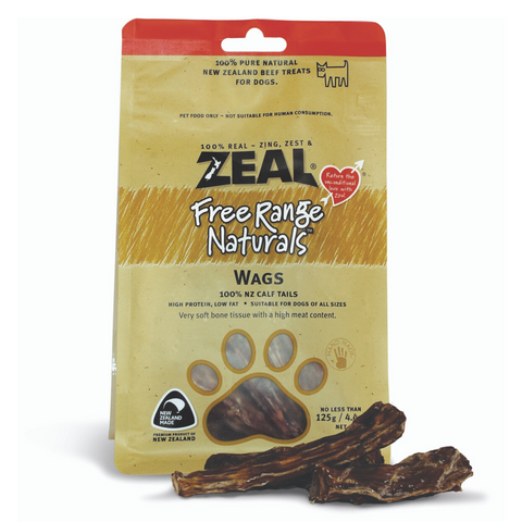 Zeal Free Range Naturals Wags - 125g (BUY 2 GET 1 FREE)