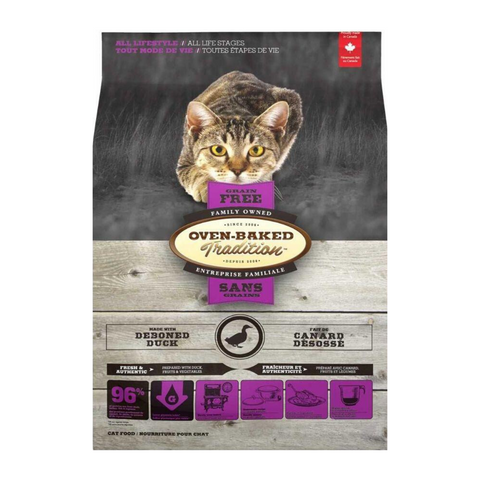 Oven-Baked Tradition Grain Free (Duck) for Cats -1.13kg / 4.54kg