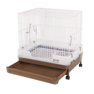 Marukan Easy Clean Brown Cage for Rabbit H60B - 63 x 50 x 60 cm