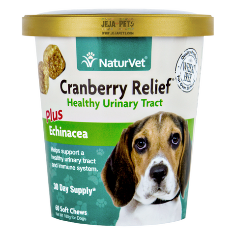 NaturVet Cranberry Relief® Plus Echinacea Soft Chews - 60 ct (30 day supply)