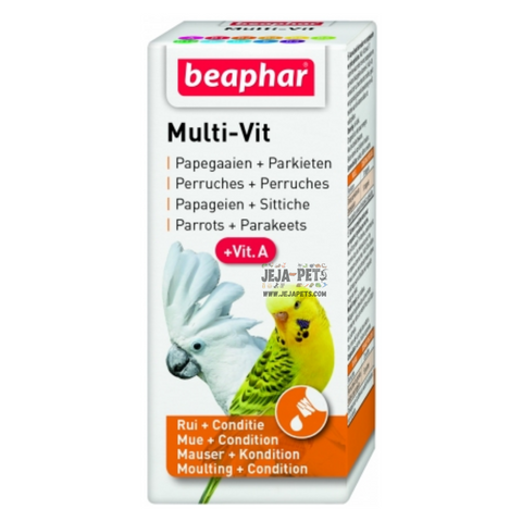 Beaphar Multi-Vitamin for Parrots and Large Parakeets - 20ml