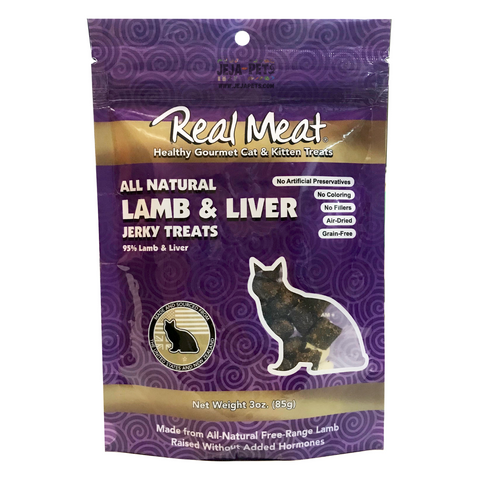 Real Meat Lamb & Liver Jerky Treats for Cats - 85g