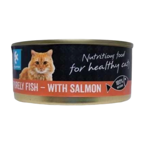 PurelyFish Purely (Salmon & Whitefish) for Cats 170g Can