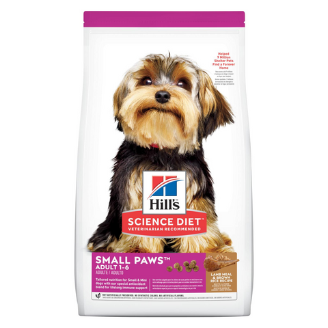 Hill's Science Diet Adult Small Paws - Lamb Meal & Brown Rice - 2.04kg